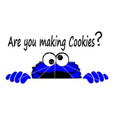 SVG Cookie Monster Are you making Cookies DXF by AmaysingGifts