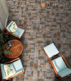 Stone-look tiles are a fab way to bring nature into your home. Think cobblestones for a trendy way to blend old world charm with modern style. #stonelook #cobblestones #tiles #floortiles #outdoortiles #patiotiles #biophilicdesign #tiledesign