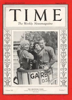 The Marx Brothers  TIME  ISSUE DATE: Aug. 15, 1932