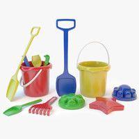 sand toys 3d model