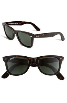 Ray Ban Tortoiseshell Classic Wayfarer   Remember her the biggest frames you can bc I have a big head
