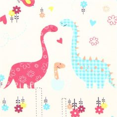 off-white dino animal fabric dinosaur Camelot from Canada