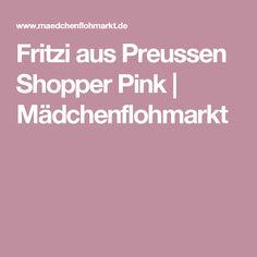 Fritzi aus Preussen Shopper Pink | Mädchenflohmarkt