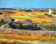 Vincent Van Gogh - Post Impressionism - Arles - La Moisson - 1888