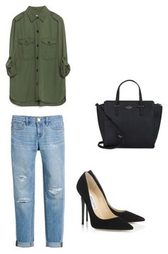 """""""Untitled #150"""" by livelovethelife on Polyvore featuring White House Black Market, Zara, Jimmy Choo and Kate Spade"""