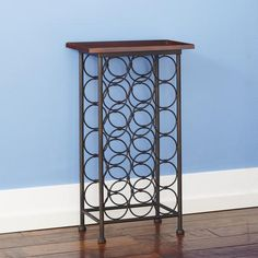 One of my favorite discoveries at WorldMarket.com: 18-Bottle Wood Top Wine Rack