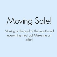 Moving Sale! Make me a reasonable offer! Most unsold items will be donated at the end of the month! I also have bundle discounts 15% off 3 and 20% off 5 items. With each bundle you also get to choose a Bundle Bonus Item from my Bundle Bonus Item listing in my closet! Other