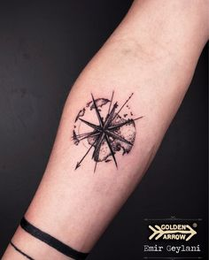 Compass done by Emir Geylani #tattoo #compass #earth #dotwork