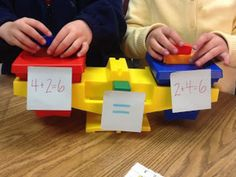 Memos from a Multisensory Teacher: Commutative Property of Addition hands-on lesson Math Resources, Math Activities, Addition Activities, Commutative Property Of Addition, Associative Property, Fractions, Properties Of Addition, Teaching Math, Teaching Ideas