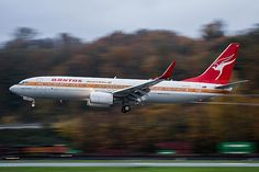 "Qantas Boeing 737-838 VH-XZP ""James Strong"" at King County International-Boeing Field, November 2014. (Photo Copyright: Josh Kaiser)"