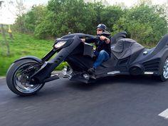 A Custom Batmobile Trike Motorcycle Resembling Batman's Vehicle From the 'Batman' and 'Batman Returns' Films