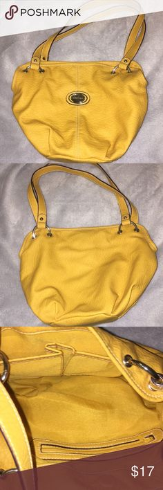 BRAND NEW Mustard yellow strada purse BRAND NEW Soft foe leather, mustard yellow hand bag. 3 interior pockets, 1 zipper strada Bags Shoulder Bags