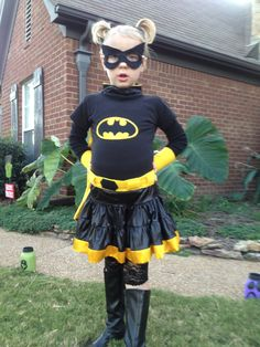 batman costume for girl