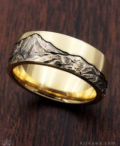 Choose your favorite mountain range and Krikawa will hand carve it into your custom wedding band. With so many ways to customize your ring, you are sure to stand out from the crowd!