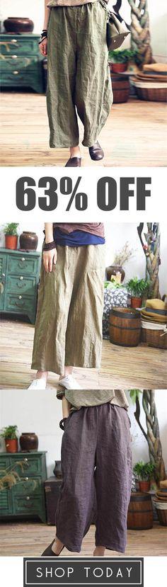 Plus Size Cotton&Linen Loose Wide Leg Pants Just My Size, Easy Wear, Wide Leg Pants, Cotton Linen, Plus Size, Casual, Closet, Shopping, Style