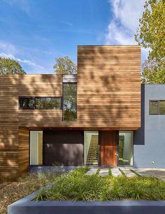 façade jardin & entrée - Hills-House par Robert M. Gurney - Maryland, USA