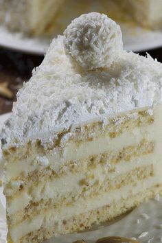 ALMOND COCONUT CAKE Almond coconut cake is delicious blend of almond coconut white chocolate and lemon flavors It has almond sponge white chocolate coconut filling with. Coconut Sponge Cake, Almond Coconut Cake, Almond Cakes, Almond Filling Recipe, Almond Flour Recipes, Amish Donuts Recipe, Donut Recipes, Fun Desserts, Delicious Desserts