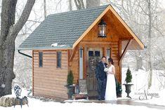Winter wonderland wedding at Elope Niagara Winter Wonderland Wedding, Chapel Wedding, Christmas Themes, Christmas Wedding, Cabin, Weddings, House Styles, Decor, Decorating