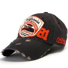 07a49028d1175 ililily New Mens Distressed Baseball Cap Vintage washed Ball Caps Hats  Trucker in Hats