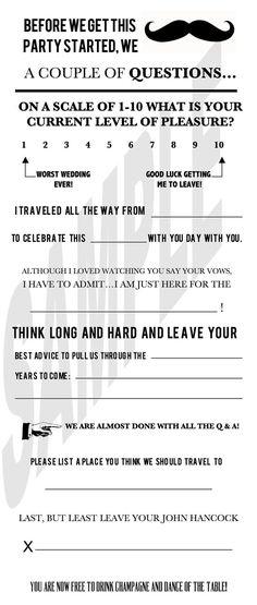 #Wedding Guest Book Alternative