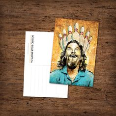 A single glossy postcard for your travels. Postcard size is inches - Printed on heavy card stock from environmentally sustainable forests. Indie Art, The Big Lebowski, Postcard Size, Local Artists, Traveling By Yourself, Card Stock, Fandom, Art Prints, My Love