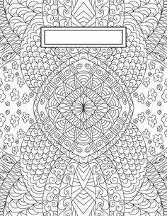 These back to school binder cover adult coloring pages have a multitude of great uses. These adult coloring pages are perfect for binder covers, wall art, and even cards if you print them on nice stock. Easter Coloring Pages, Free Adult Coloring Pages, Coloring Pages To Print, Free Printable Coloring Pages, Colouring Pages, Free Coloring, Coloring Sheets, Coloring Books, Zentangle