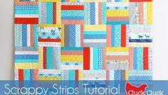 Scrappy Strips Quilt Tutorial
