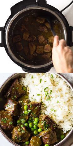 A super easy Instant Pot Beef Stew recipe with the most amazing Peruvian flavors! Super tender pull apart beef in a delicious green sauce served over rice. A dream come true! #instantpot #beefstew #peruvian Recipes With Pulled Beef, Cooked Chicken Recipes, Stew Meat Recipes, Healthy Meats, Healthy Meat Recipes, Real Food Recipes, Peruvian Dishes, Peruvian Recipes, Peruvian Green Sauce Recipe