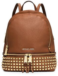 c906152ddd5c Michael Michael Kors Rhea Studded Leather Backpack Tote Backpack, Leather  Backpack, Studded Backpack,
