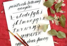 How to Create Paintbrush Lettering + A Free Exemplar | The Postman's Knock :: This post provides a brief introduction to writing with a paintbrush, as well as a free printable exemplar for your practicing pleasure.