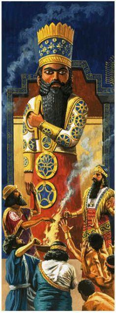 Marduk, the principal god of Babylon.