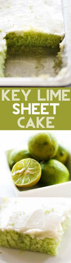 This Key Lime Sheet Cake is a tart and sweet cake with a delicious creamy…