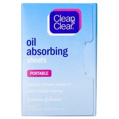 Add these to the Emergency Day of Kit: Clean & Clear Oil Absorbing Sheets