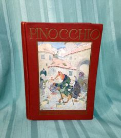 Vintage Pinocchio Illustrated, Circa 1930 by AmericanVintageAve on Etsy