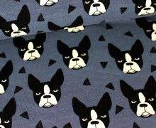 Sweat - GOTS - Boston Terrier - Blaugrau - Andrea Lauren