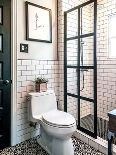50 Small Master Bathroom Makeover Ideas On A Budget Http with small bathroom design ideas plans regarding Comfortable Tiny House Bathroom, Bathroom Design Small, Bathroom Designs, Attic Bathroom, 1950s Bathroom, Office Bathroom, Simple Bathroom, Bath Design, Bathroom Layout