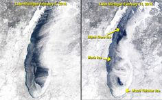 See remarkable Lake Michigan ice growth in the past four days with your own eyes | MLive.com