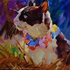 """""""To All the Cats Eds Loved Before  SOLD"""" - Original Fine Art for Sale - © Dreama Tolle Perry"""