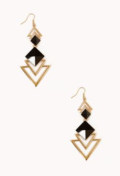 Cutout Triangle Earrings   FOREVER21 - 1042877636