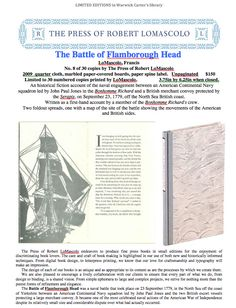 The Battle of Flamborough Head - The Press of Robert LoMascolo Copy Print, Battle, Books, Beautiful, Libros, Book, Book Illustrations, Libri