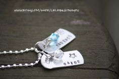 Hand Stamped Aluminum Charm Name Necklace by CelebratingYou, $16.00
