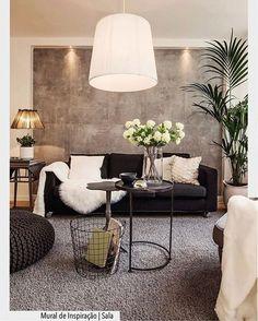 Perfeita a composição de mesinhas com o revisteiro em ferro. Inspiração para uma sala moderna. Ad❤️ #arquiteturadecoracao #adsala #inspiracao #sala #adsala #living