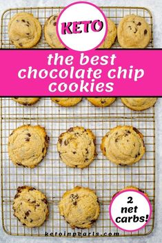 These keto chocolate chip cookies from Keto in Pearls are EASY to make! Make these delicious low carb cookies with almond flour and a few other ingredients. This keto dessert recipe produces a cookie you and your family will love! These cookies are simple cookies any person can make at home! Your family is sure to love these keto chocolate chip cookies. Bake a batch for your family! #ketochocolatechipcookies #ketocookies #ketodessert #ketodessertrecipes #lowcarbdessert Keto Chocolate Chip Cookie Recipe, Keto Chocolate Chips, Vegan Chocolate, Chocolate Recipes, Low Carb Desserts, Low Carb Recipes, Dessert Recipes, Cookie Recipes, Lunch Recipes