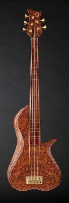 Barbary 5 String Fretless Bass