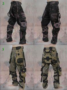 Mode Cyberpunk, Cyberpunk Fashion, Dystopian Fashion, Tactical Pants, Tactical Clothing, Apocalyptic Fashion, Character Outfits, 3d Character, Character Concept
