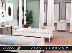 Jijo Bedroom Set by Onyx Sims for The Sims 4