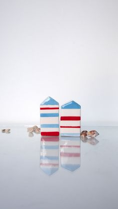 Ceramic Houses set Miniatures Handmade by VitezArtGlassDesign