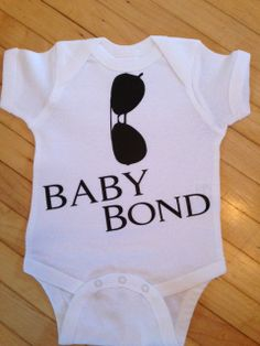 Cute Jame Bond Inspired Baby Body Suit One Piece by StellasShoppe, $13.00