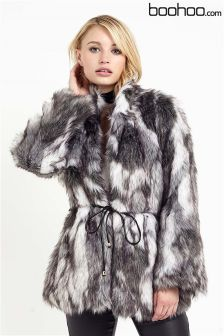 Lipsy Faux Fur Belted Coat | Winter Coats 2016 | Pinterest