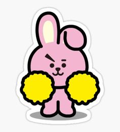 cooky' Sticker by dtowns Tumblr Stickers, Diy Stickers, Printable Stickers, Bts Drawings, Line Friends, Bts Chibi, Aesthetic Stickers, Foto Bts, Bts Pictures